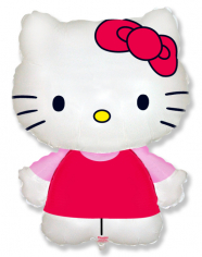 Шар фигура, Котенок с бантиком Хелло Китти / Hello Kitty (в упаковке)